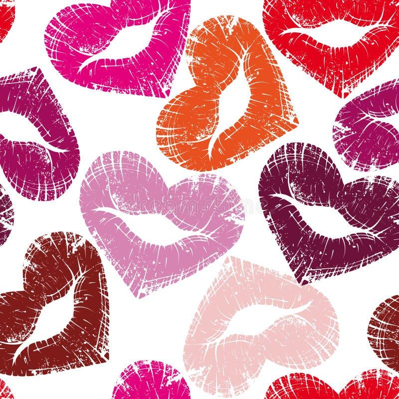 Print of lips, kiss stock photo