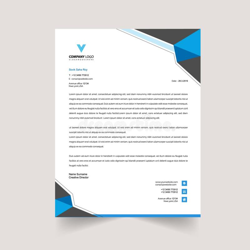 Free Print Ready Abstruct Letterhead Template Stock Images - 143912694