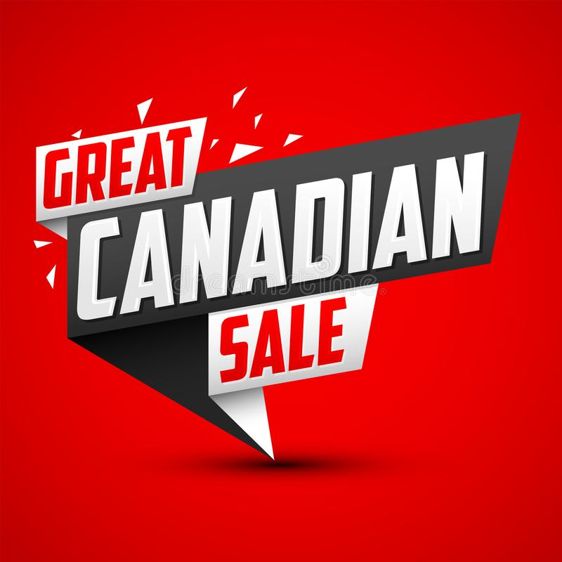 Great Canadian Sale vector modern colorful Promotional Banner. Eps available stock illustration