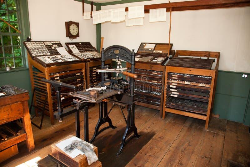 Download Print Shop stock photo. Image of press, massachusetts - 10201640