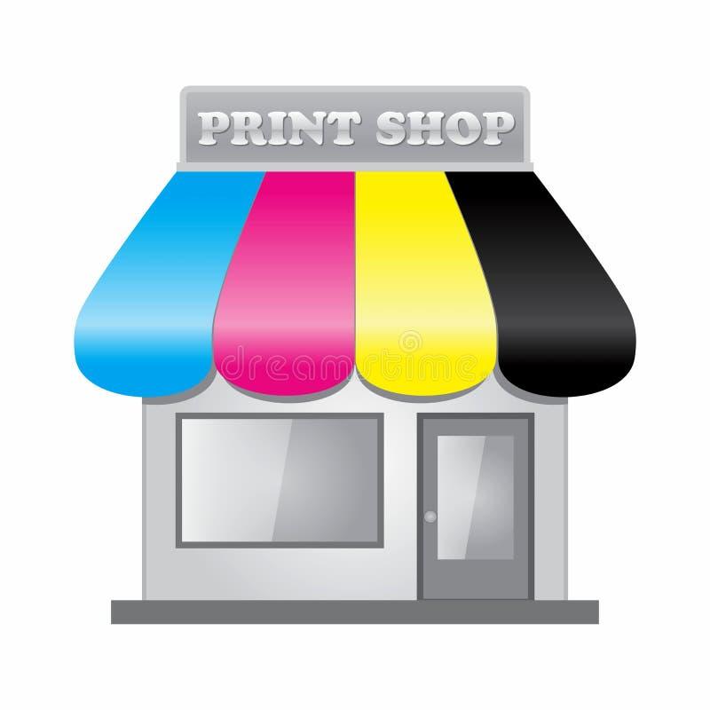 Print Shop CMYK vector illustration