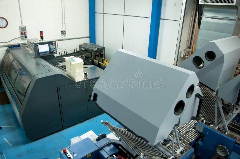 Print Shop (press Printing) - Finishing Line Stock Photography
