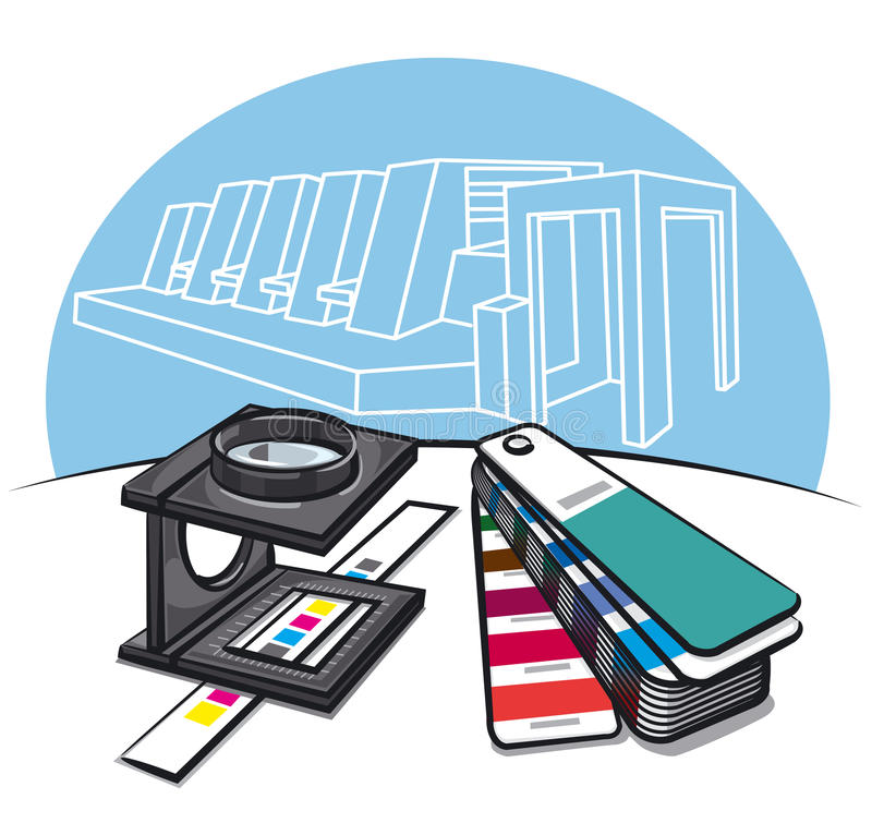 Download Print shop tools stock illustration. Image of industry - 28878936