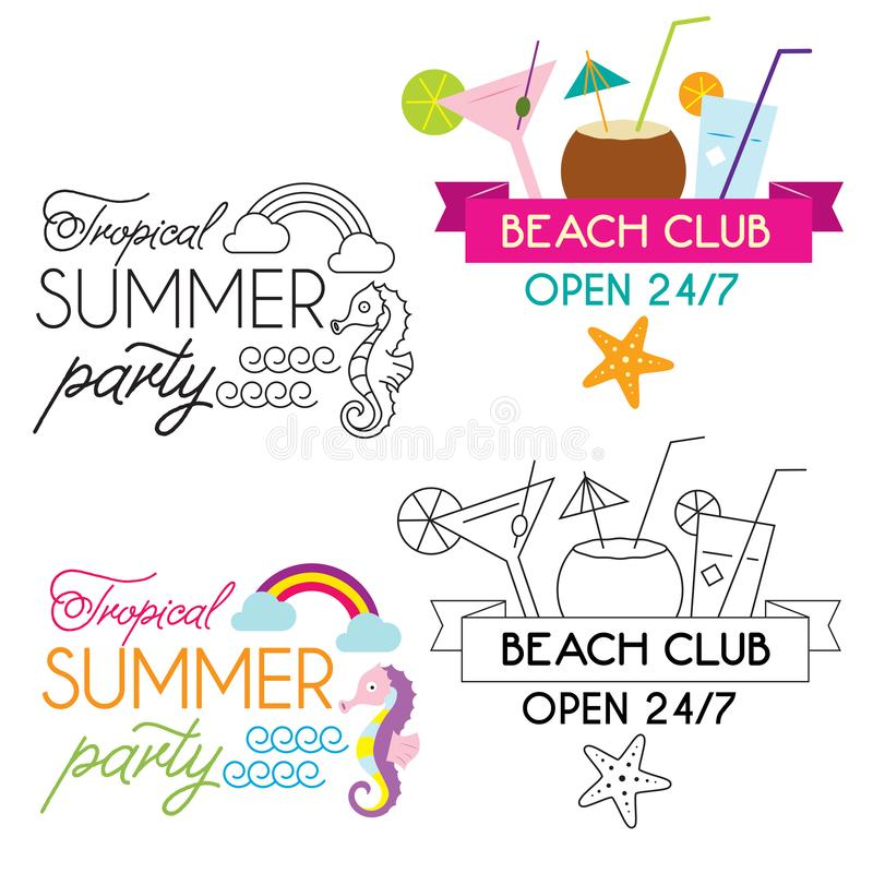 Summer holiday poster collection. vector illustration