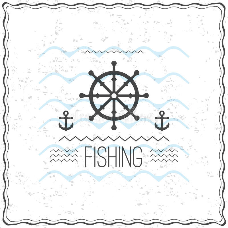 Print on t-shirt design with a textured marine theme vector illustration