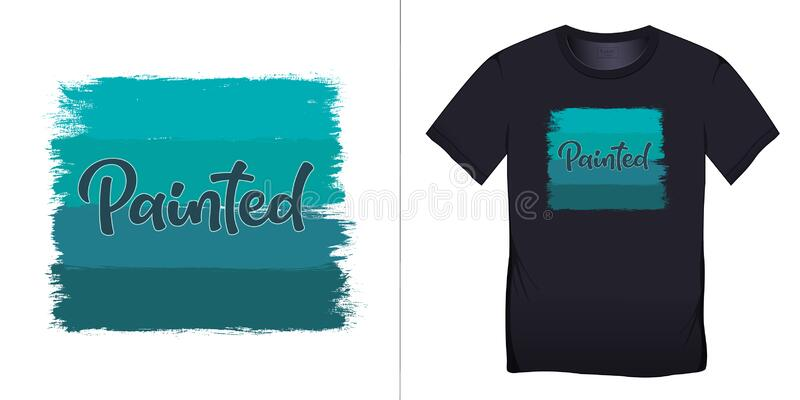Print On T Shirt Graphics Design Painted Isolated On White Background Blank Stock Vector Illustration Of Motive Proposal 175962669