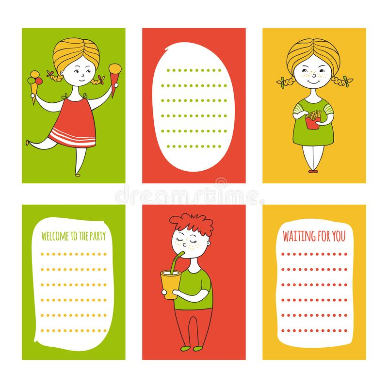 Print templates set stock illustration