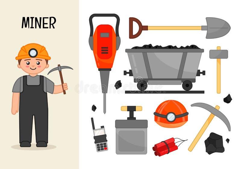 Vector character miner. vector illustration