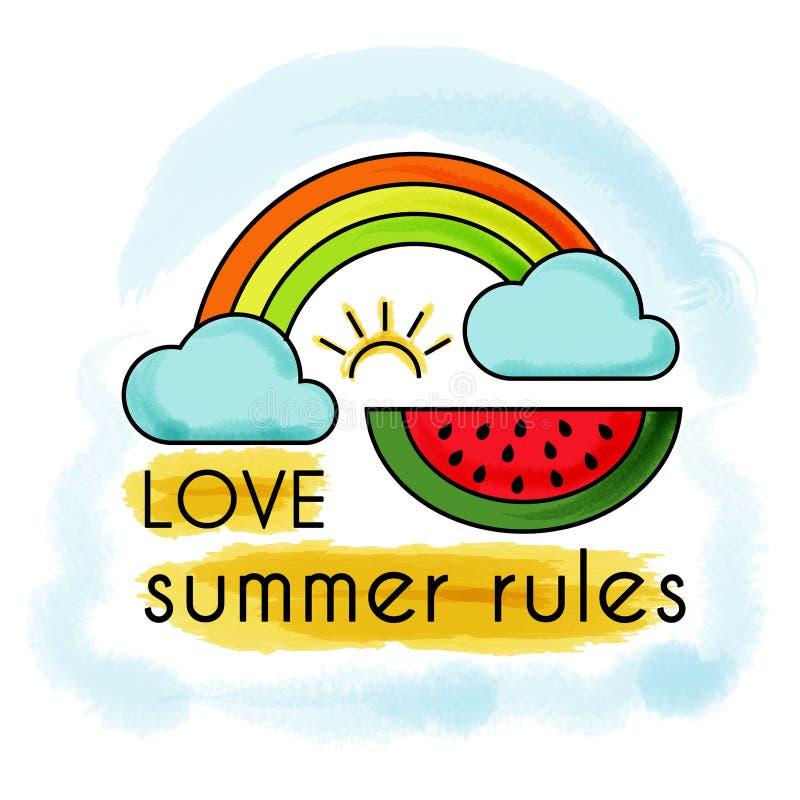 Love summer rules. stock illustration