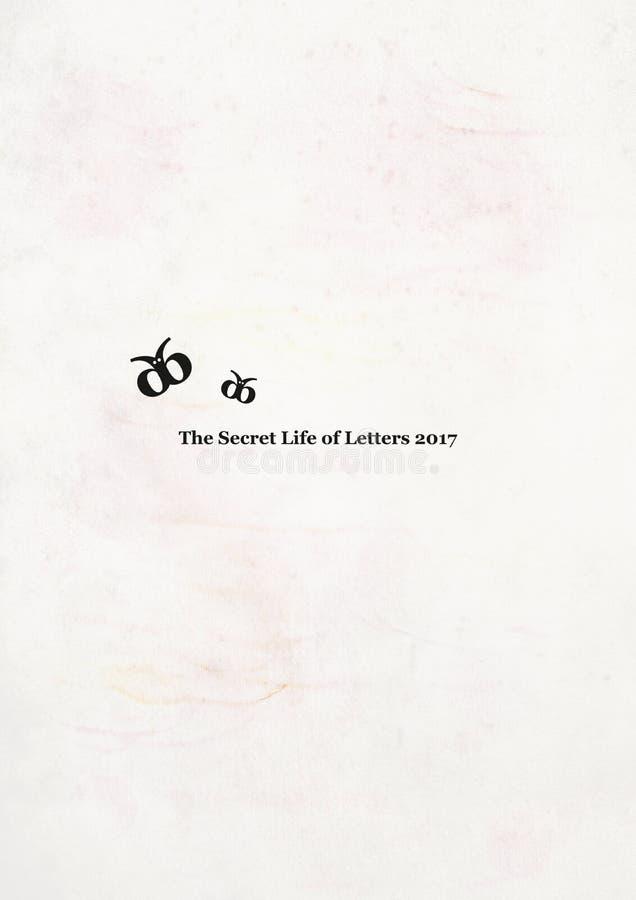 Printable calendar 2017 cover. Secret Life of Letters. Wall calendar last page. Wall calendar last page. Secret Life of Letters stock illustration