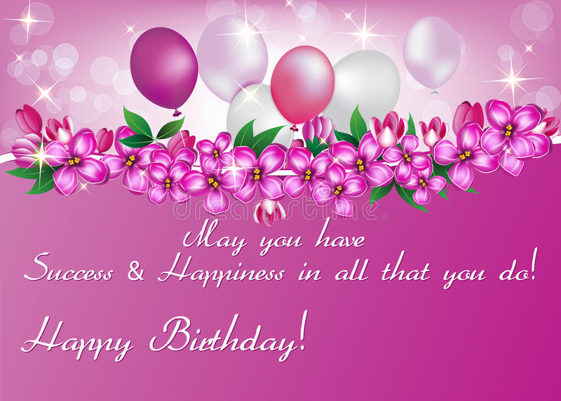 Printable elegant birthday greeting card for woman stock image download printable elegant birthday greeting card for woman stock image image of cake cards m4hsunfo