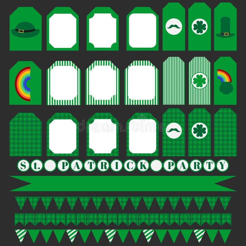 Download Printable Set świętego Patrick Przyjęcia Elementy Ilustracji - Ilustracja złożonej z leprechaun, lucked: 65225865