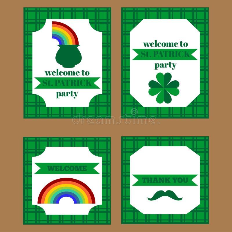Download Printable Set świętego Patrick Przyjęcia Elementy Ilustracji - Ilustracja złożonej z lucked, dekoruje: 65226428