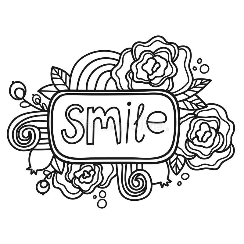 Download Printable Smile Sticker Page Stock Vector