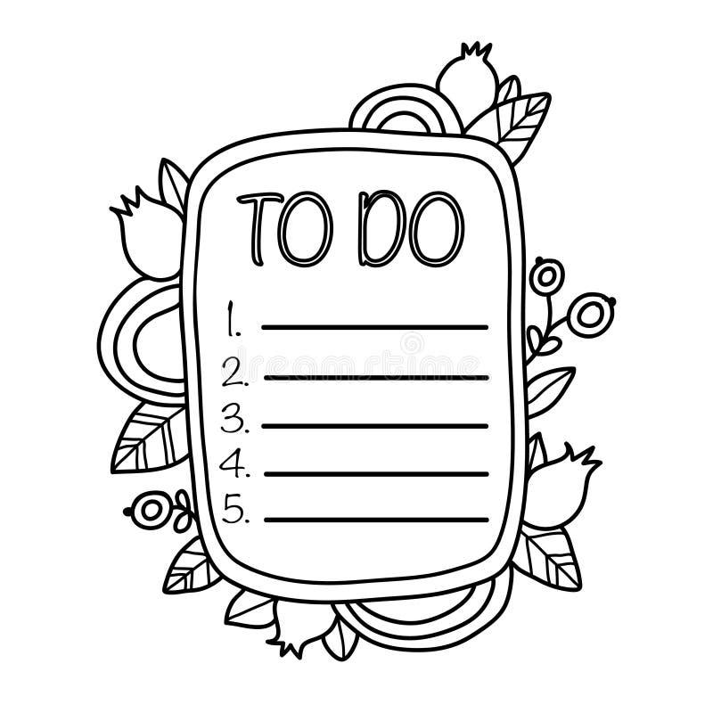 Printable `To do` sticker. stock image