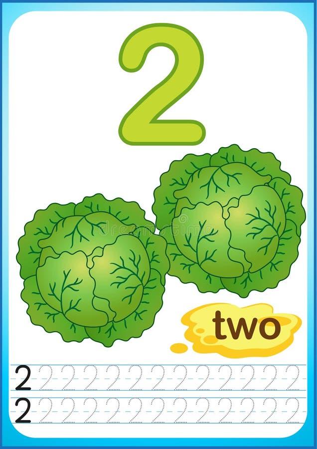 Free Printable Worksheet For Kindergarten And Preschool. Exercises For Writing Numbers. Bright Vegetable Harvest Chili Pepper, Pumpkin, Stock Photo - 123290620