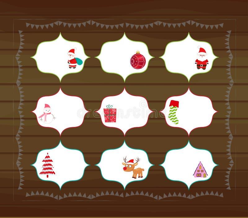 Printables de la Navidad stock de ilustración