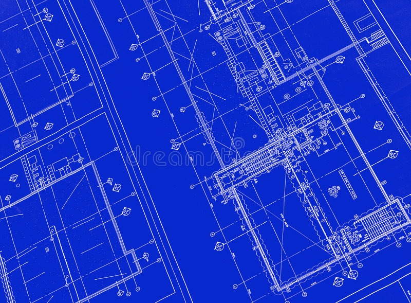Printed Blueprint stock photos