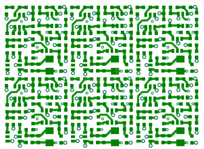 Printed circuit board background royalty free illustration
