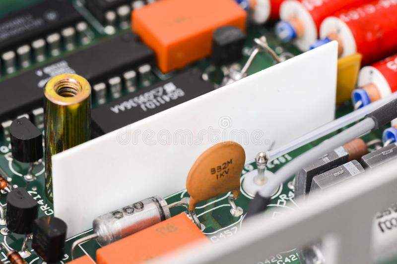 Printed Circuit Board PCB,Detail Of An Electronic Printed Circ Stock ...