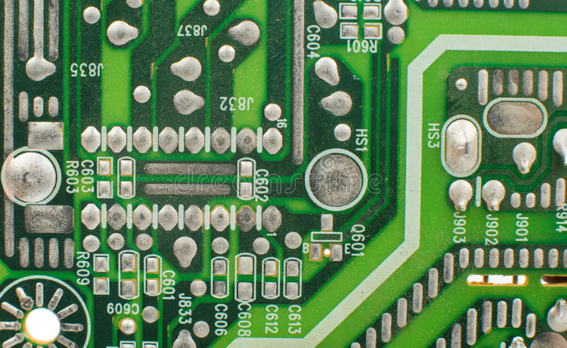 Printed-circuit board- It is photographed. By close up royalty free stock images