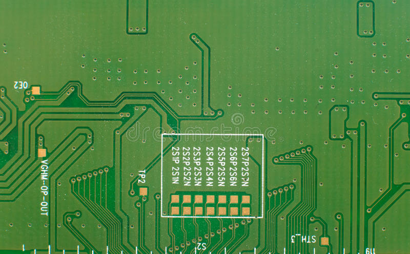 Printed-circuit board. It is photographed by close up royalty free stock photos