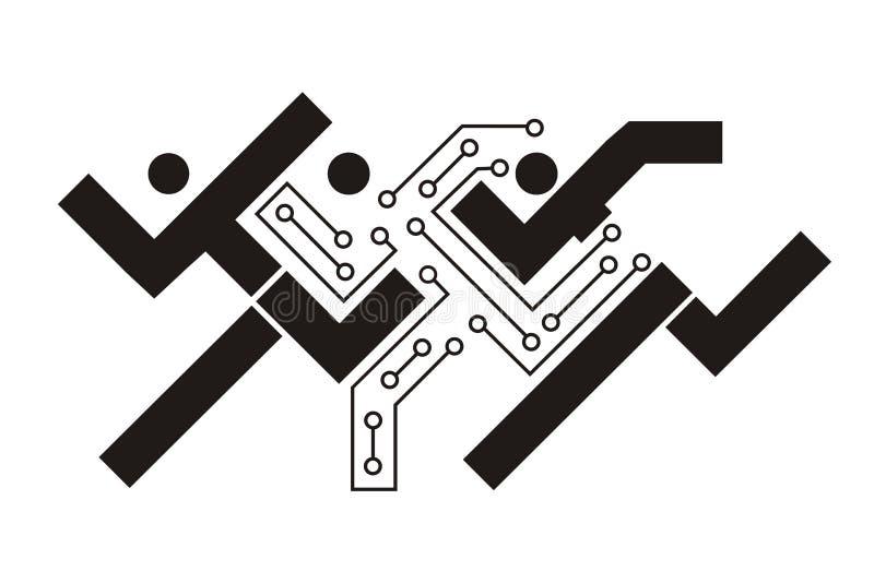 printed circuit man stock vector  illustration of illustration