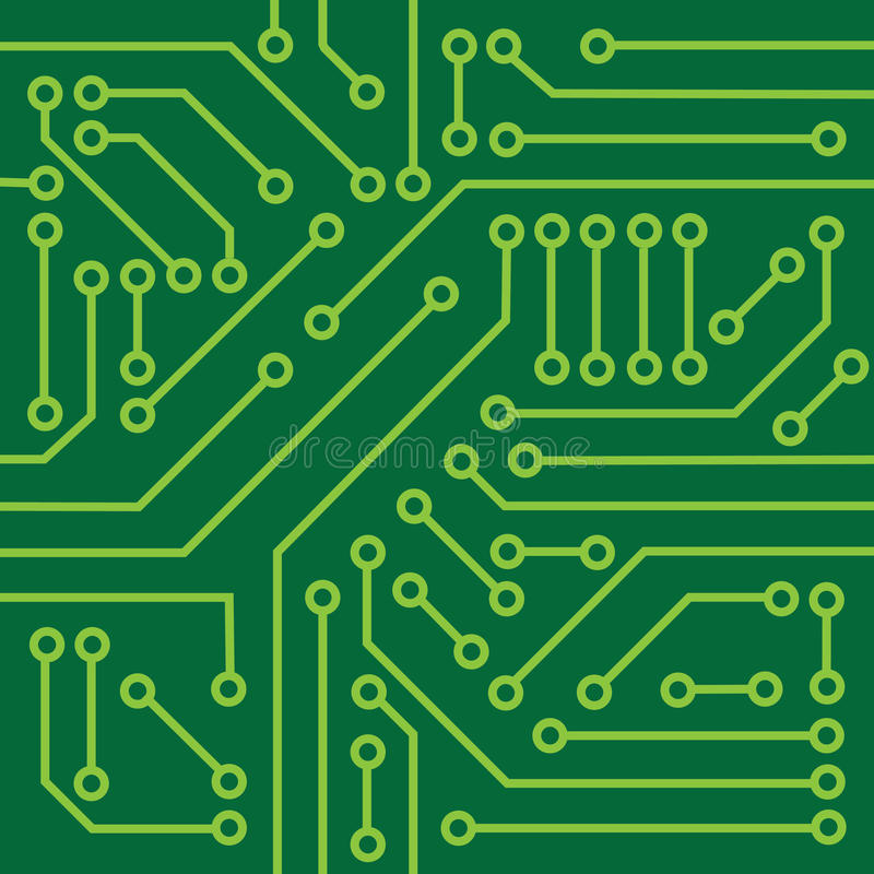 Printed circuit texture. Background, can be mosaiced vector illustration
