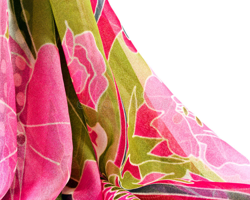 Download Printed Fabric With Flowers Stock Photo - Image: 20849088