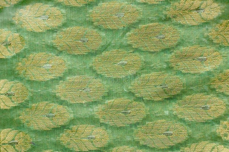 Printed Indian Silk Fabric Stock Image