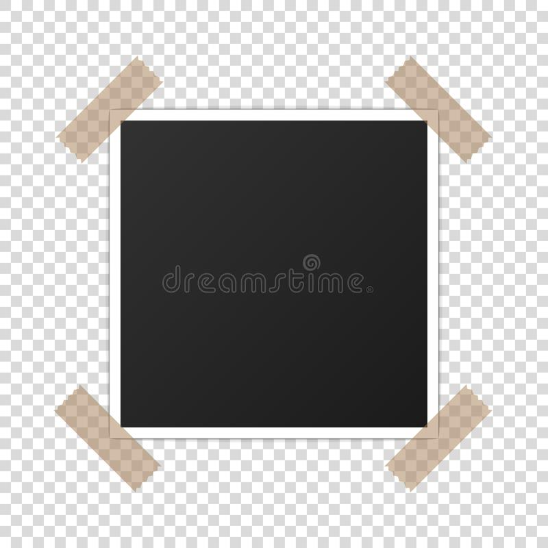 Printed photo paper mockup realistic photoframe vector royalty free stock photography