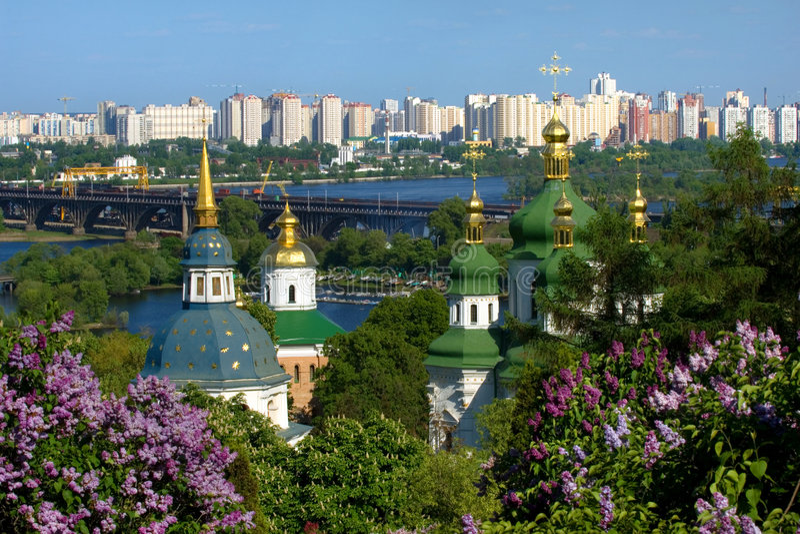 Printemps à Kiev image libre de droits