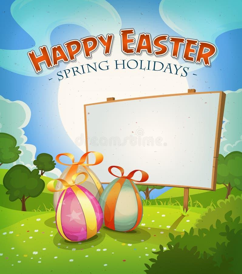 Printemps et vacances de Pâques illustration libre de droits