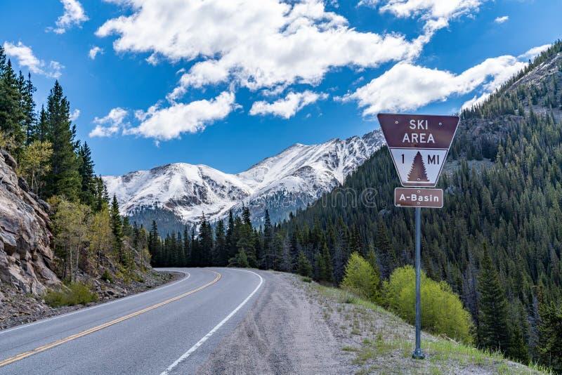 Printemps sur le passage de Loveland, le Colorado images stock