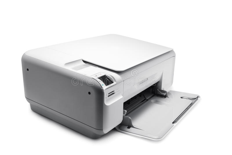 Printer. Multifunction printer isolated on white stock photography