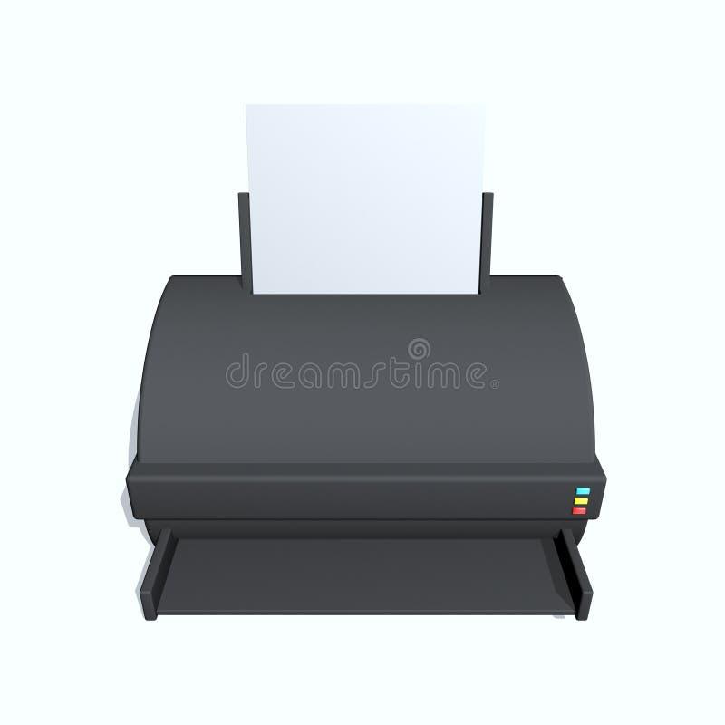 Download Printer stock illustration. Illustration of paper, colour - 12003392