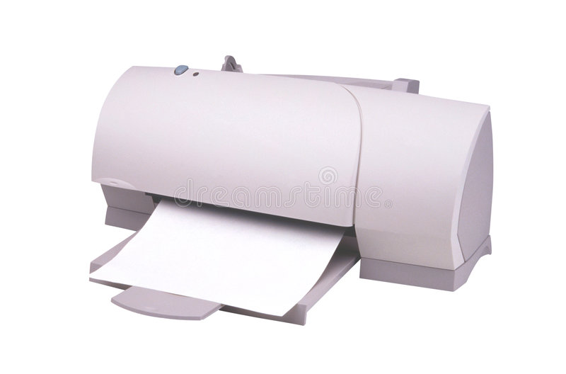 Printer-2. This is a White Background Printer stock image