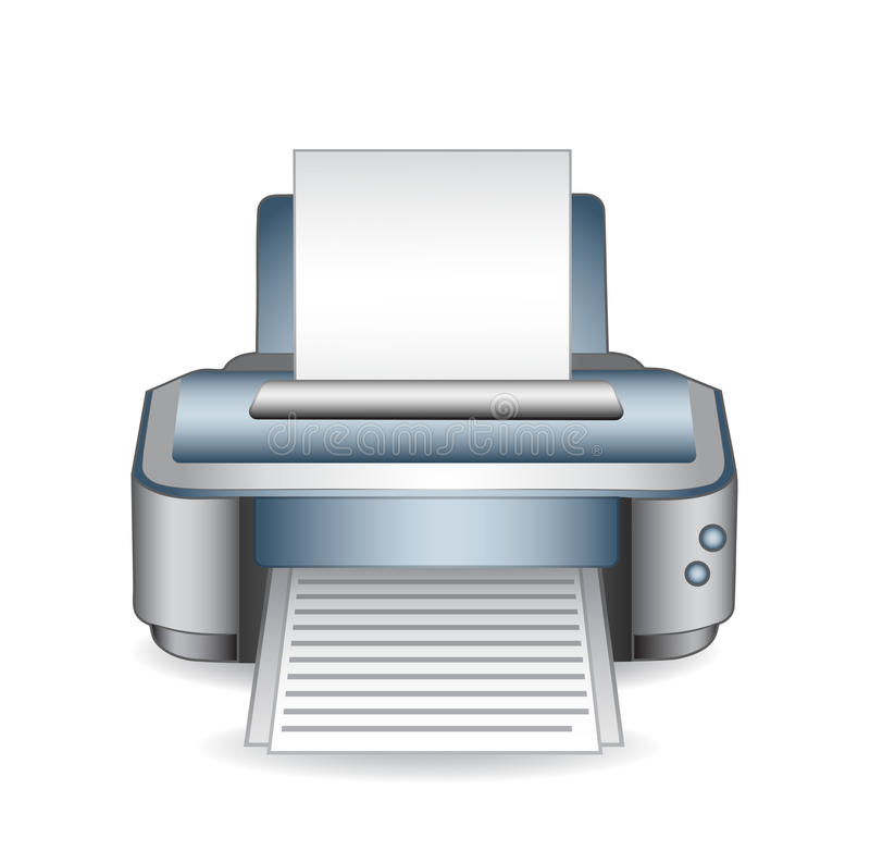 Printer. On a white background. Vector illustration royalty free illustration