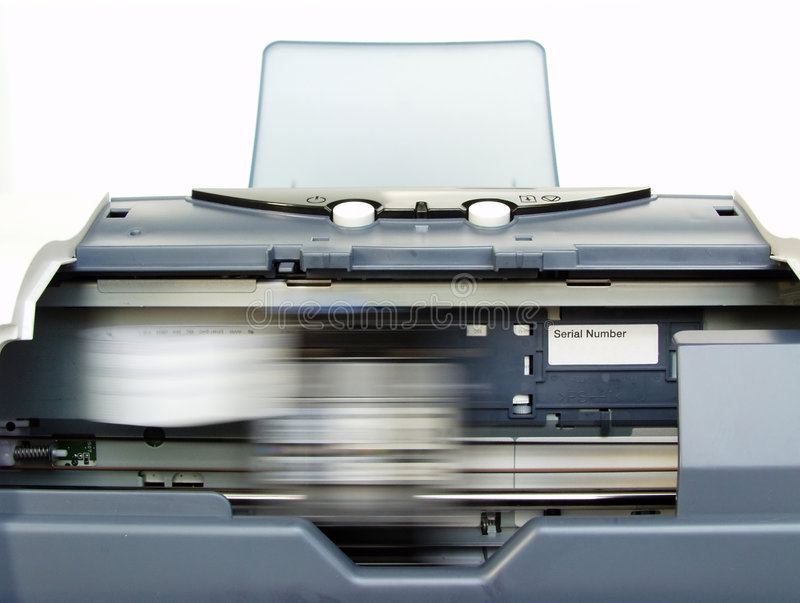 Printer in Action royalty free stock photos