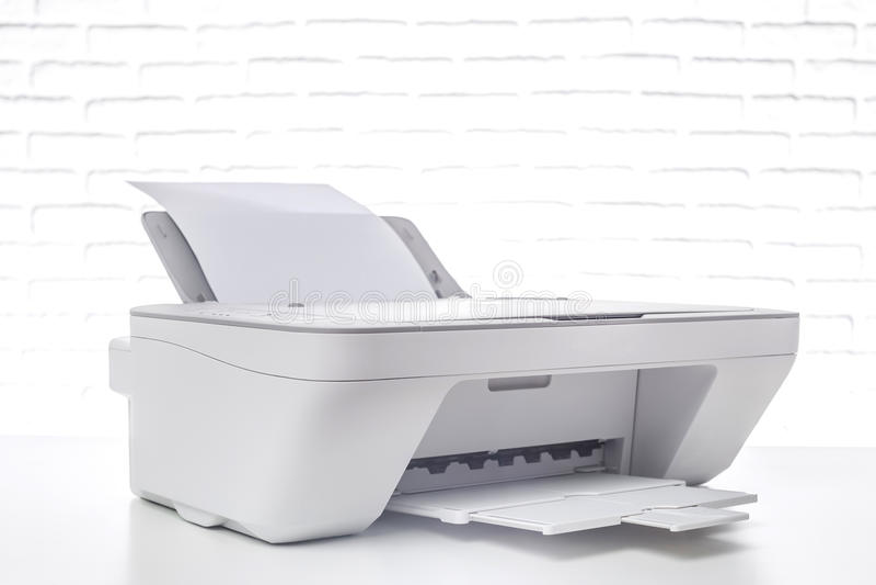 Printer, bureaubinnenland royalty-vrije stock foto's
