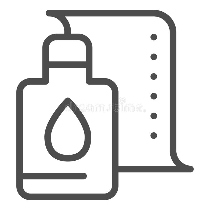 Printer cartridge line icon. Printer paint can vector illustration isolated on white. Ink paint bottle outline style. Design, designed for web and app. Eps 10 stock illustration