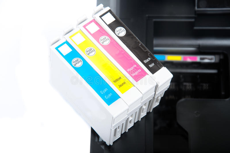 Download Printer cartridges stock image. Image of office, four - 26424135