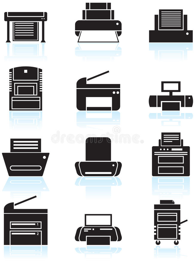 Free Printer / Copy Machine Icons Stock Image - 9416911
