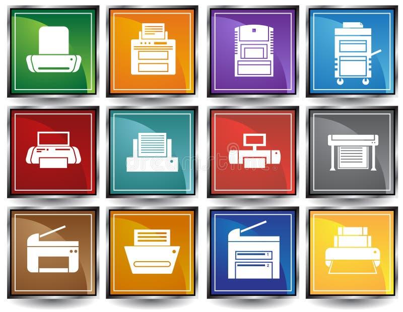 Download Printer / Copy Machine Icons Stock Vector - Image: 9416926