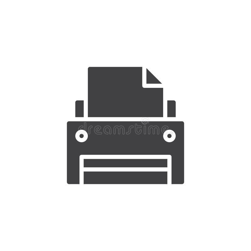 Printer die vectorpictogram drukken royalty-vrije illustratie