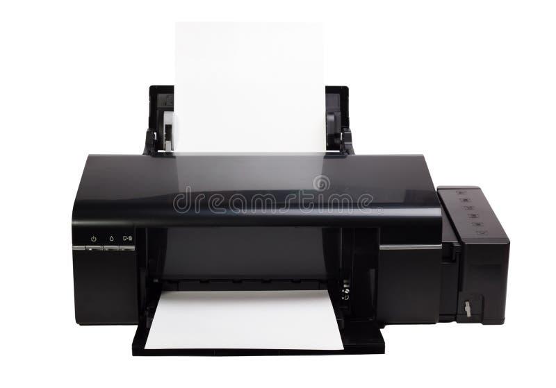 Download Printer En Document Op Witte Achtergrond Wordt Geïsoleerd Die Stock Foto - Afbeelding bestaande uit media, geproduceerd: 39109728