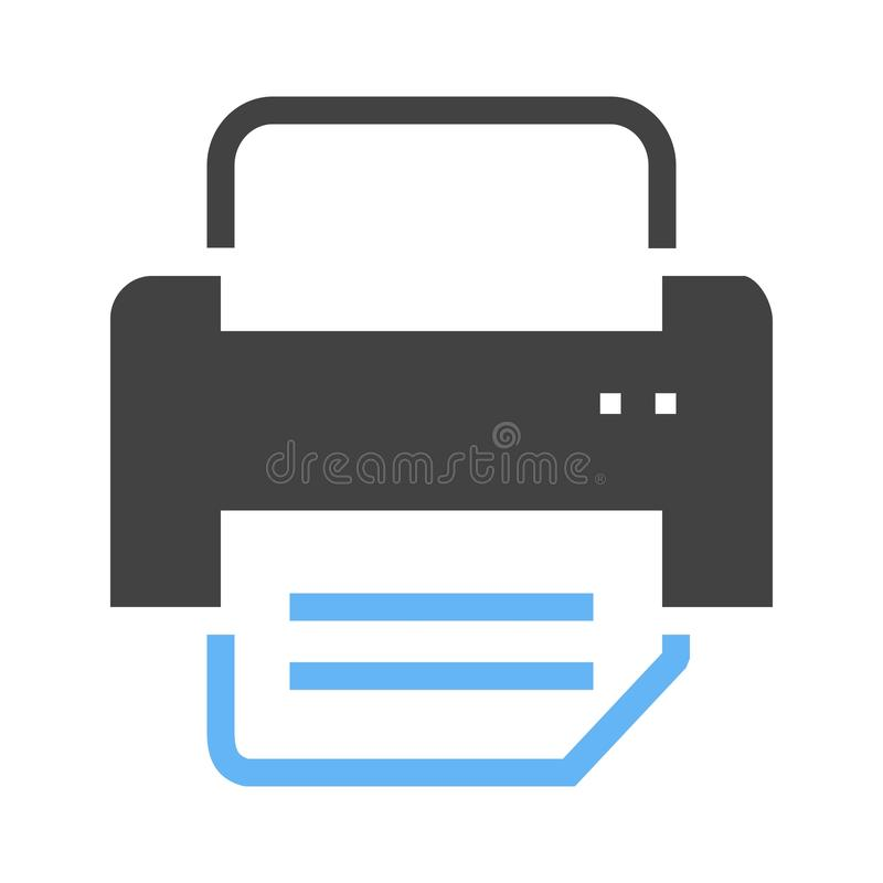 Printer I Icon vector illustratie