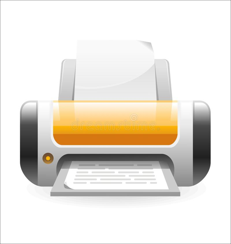 Printer icon royalty free stock images