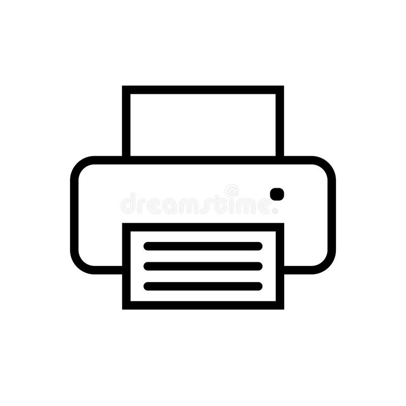 Printer icon in flat style. Simple sign isolated on white. Line printer symbol for website design, app, ui. Vector illustration vector illustration