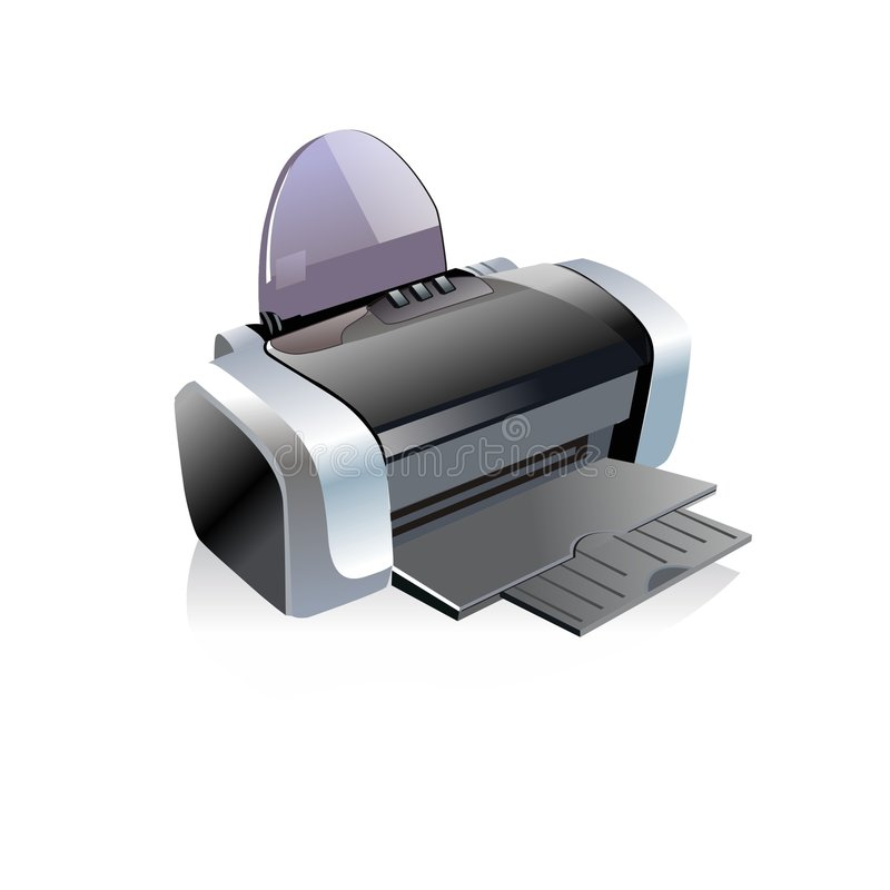 Printer illustration stock images